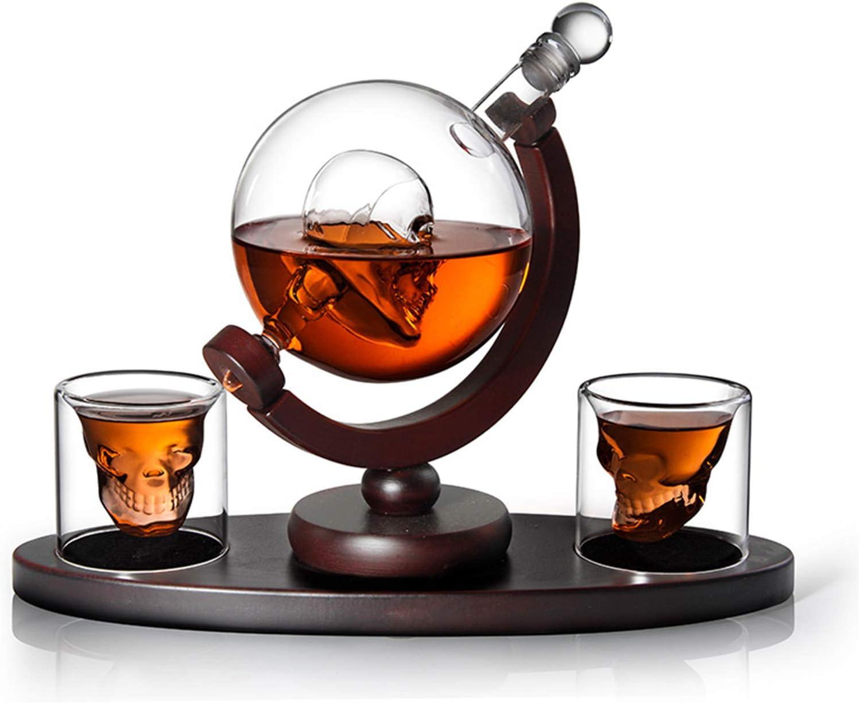 Fndjfjf Decantador De Whisky De Calavera con 2 Vasos De ...