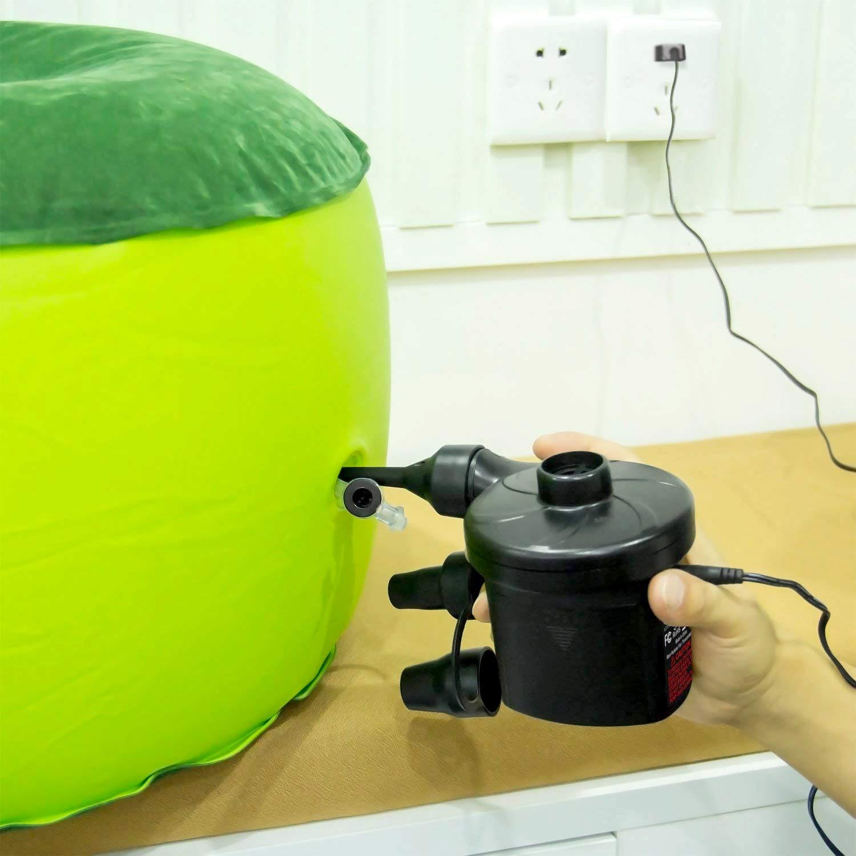 neum/áticos Dr.meter Inflador Electrico flotadores de Piscina Ideal para inflado r/ápido de Camas de Aire Bater/ías CA 220V // DC 12V Bomba de inflado el/éctrica con bater/ía Inflado//Desinflado