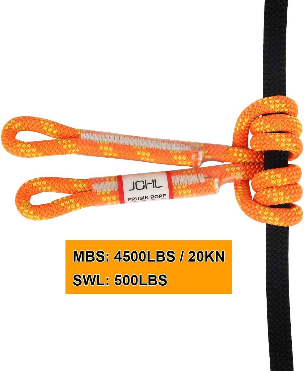 JCHL 8mm 30inch Prusik Swen Eye-to-Eye Pre-Sewn Rock Climbing Rope : Sports & Outdoors