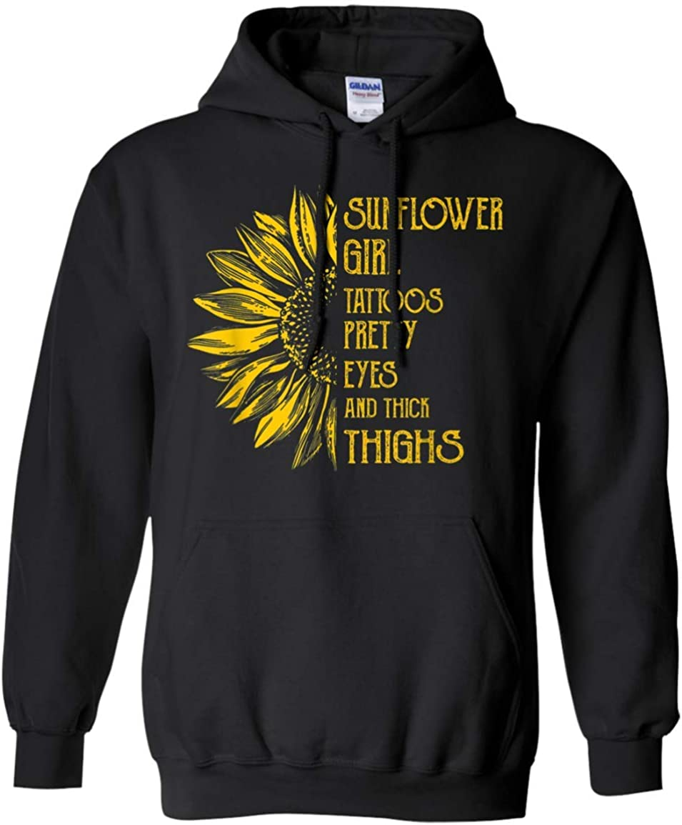 Girl Tattoos Pretty Eyes Max 86% OFF and Thighs Hoodie Thick Sunflower Gift Alternative dealer