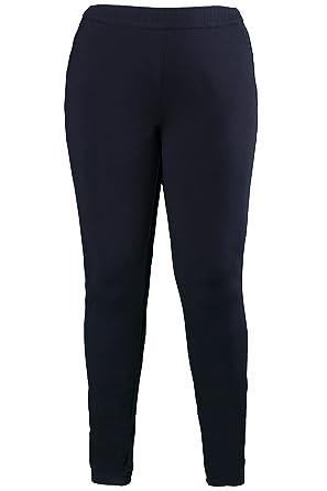 77f055bb1f1d01 Selection b Große Größeny Ulla Popken Damen Hose Jerseyhose Blau (Blau 70),  42