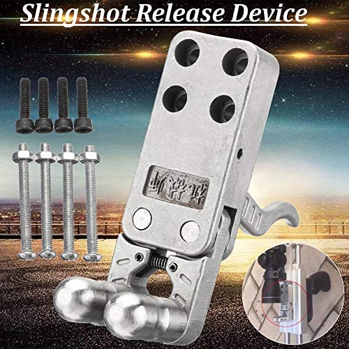 Dnasrivew Slingshot Release Device Stainless Steel Polishing DIY Catapult Rifle Trigger with 8 x Screws 1
