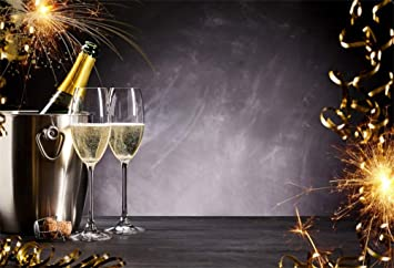 laeacco champagne glass new years eve backdrop 10x8ft vinyl photography background romantic celebration sparklers festival holiday