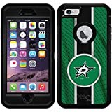 Dallas Stars Jersey Stripe design on Black OtterBox Defender Series Case for iPhone 6 Plus and iPhone 6s Plus