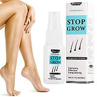 Hair Growth Inhibitor Spray, Painless Hair Stop Growth Spray, Hair Removal Spray, Non-Irritating Effective for Face Arm Leg Armpit