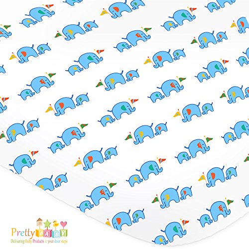 1 Soft & Cozy Fitted Muslin Cotton Baby Crib Sheet.
