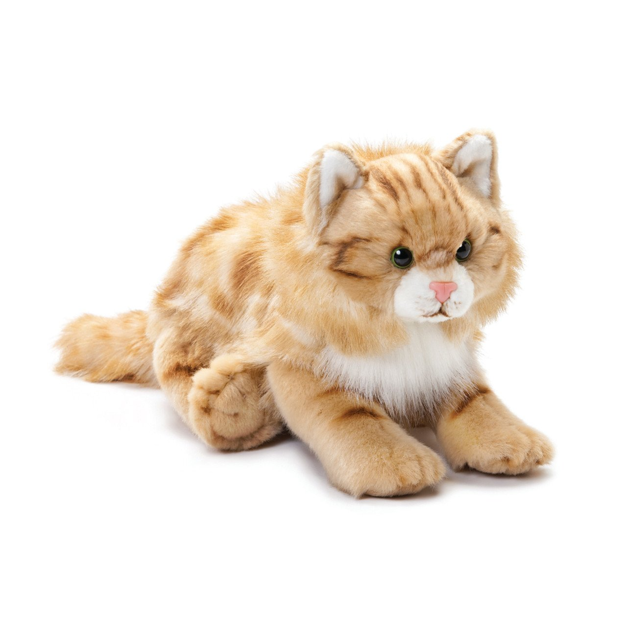DEMDACO Large Maine Coon Cat Striped Ginger Children's Plush Stuffed Animal Toy by DEMDACO