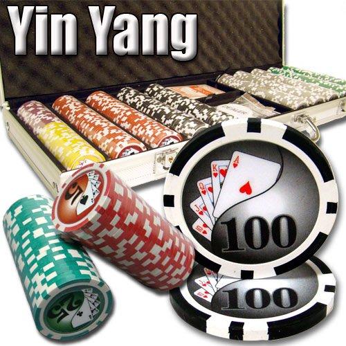 500 Ct Yin Yang 13.5 Gram Clay Poker Chip Set w/ Aluminum Case
