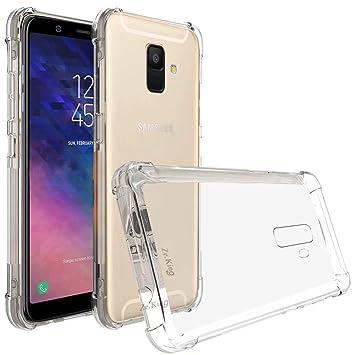 DYGG Compatible con Funda para Samsung Galaxy a6 Carcasa Silicona Transparente TPU Protector Airbag Anti-Choque Ultra-Delgado Case Caso Anti-arañazos