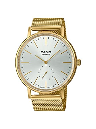 Casio Reloj Analógico para Hombre de Cuarzo con Correa en Acero Inoxidable LTP-E148MG-7AEF: Amazon.es: Relojes