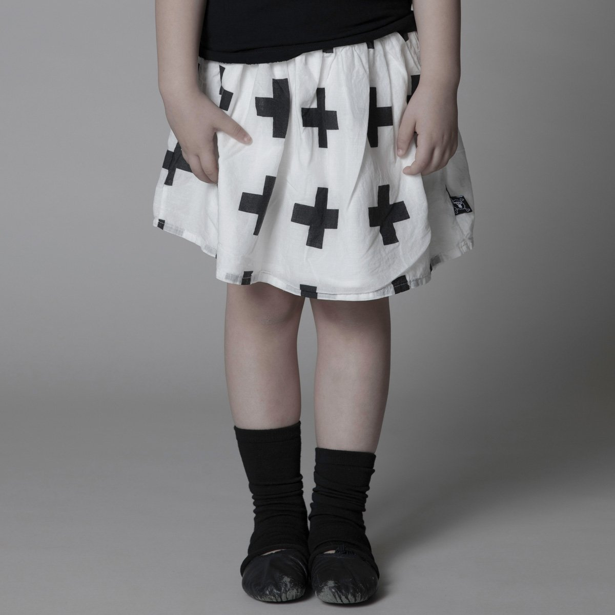 NUNUNU GirlsNununu Cotton Plus Skirt in White