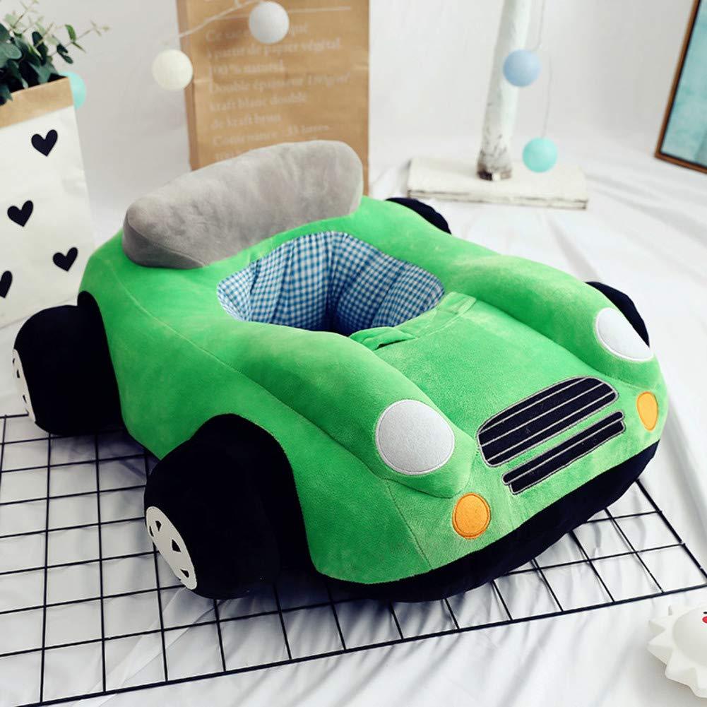 V&K Cartoon Kids Sofa,Plush Anti-Fall Kid Sofa Bed Car Lovely Upholstered Chair Toddler Furniture for Living Room -Green 706520cm(2925.57.8in)