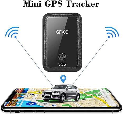 GPS Tracker, Mini Detector De Dispositivo De Seguimiento De Coche Recargable A Prueba De Agua con App Control De Voz Imán Fuerte para Camiones De Motocicleta Compatible con Android E iOS: Amazon.es: