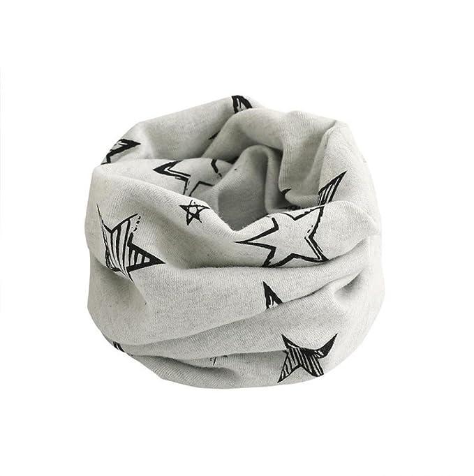 BlueSterCool Otoño invierno bebé pañuelos Niños Niñas collar del bebé  bufanda de algodón Cuello redondo Bufandas 0c96e7c018d