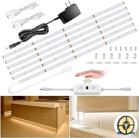 Very Bright Cool White LED Light Under Cabinet Shelf Cupboard Kit of 5 ORBIT