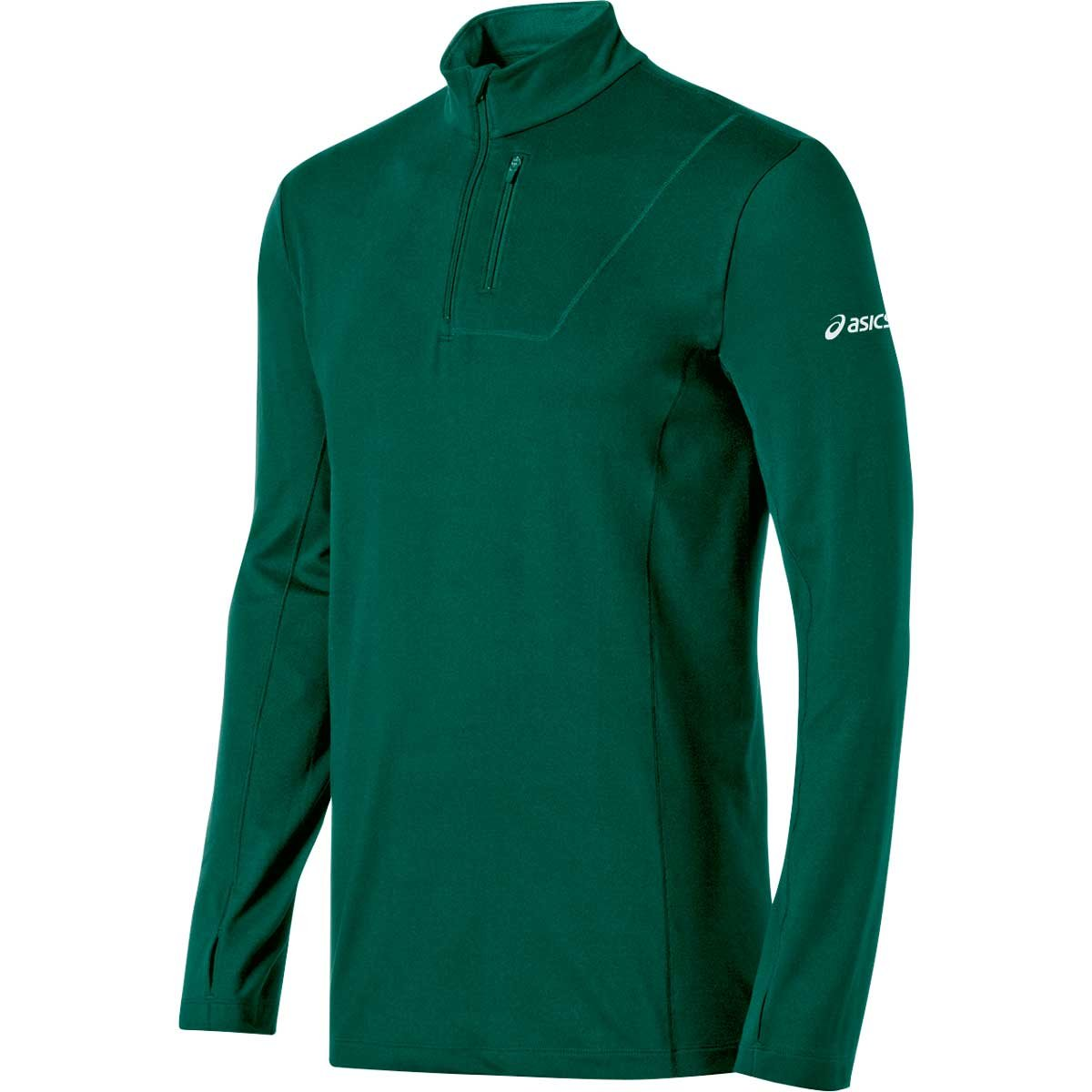 ASICS Mens Team 1//2 Zip Long Sleeve Top