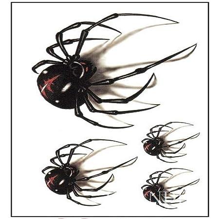 tzxdbh 3 Unids Impermeable Pegatina Tatuaje Temporal araña ...