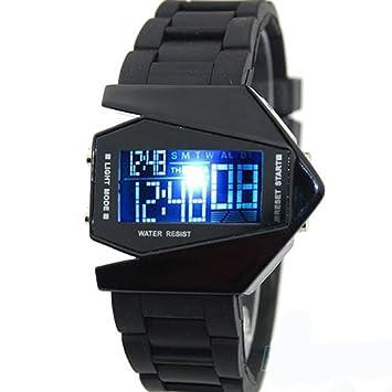 Reloj de pulsera LED Flashlight Stylish Bomber moderno original elegante para hombre o niño estilo avión caza: Amazon.es: Electrónica