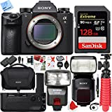 Sony Alpha a9 Mirrorless Interchangeable Lens Digital Camera with Sony Soft Carrying Case Plus 128GB Dual Flash and Dual Battery Bundle