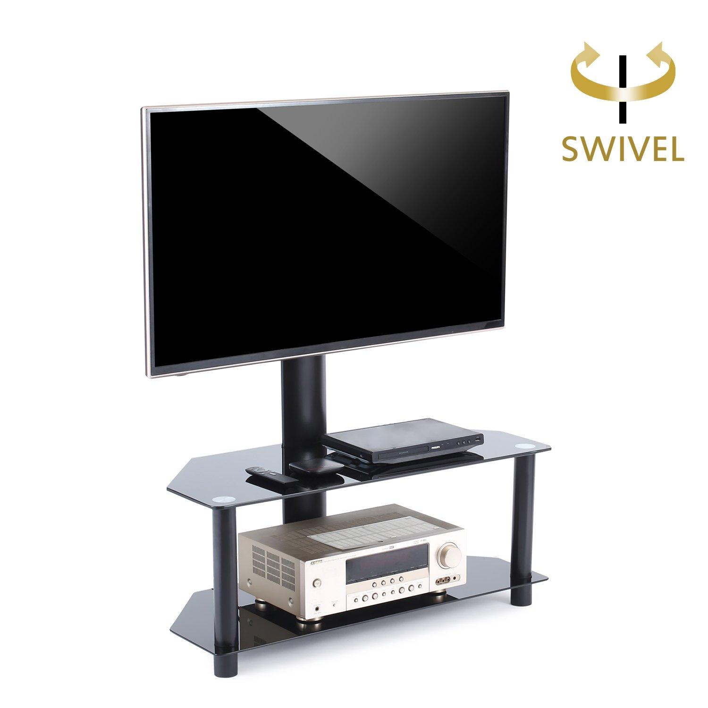 Tavr Meuble Tv Avec Support Bracket Pivotant Hauteur R Glable Pour  # Meuble Tv Avec Support Orientable