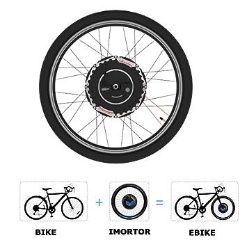 Kit de conversión iMortor ELECYCLES 2.0 24V350W, de bicicleta electrónica todo en uno (freno de disco), tamaño 26X1.95: Amazon.es: Deportes y aire libre