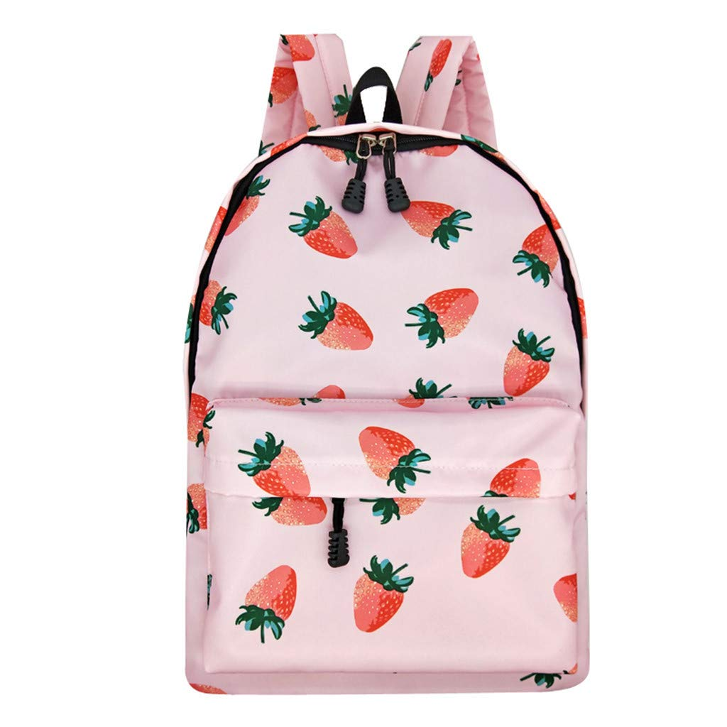 Lightweight Schoolbag Cute Printed Shoulder Bag Large Capacity Backpack Casual Travel Bag for Girls By Lmtime(B Multicolor)