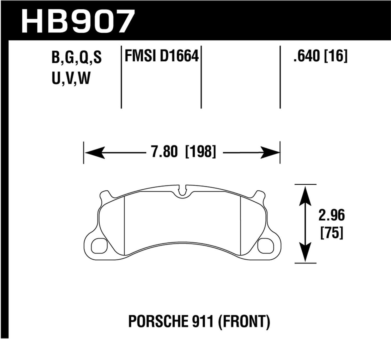 Hawk Performance Brakes HB907B.640 HPS 5.0 Street Brake Pads