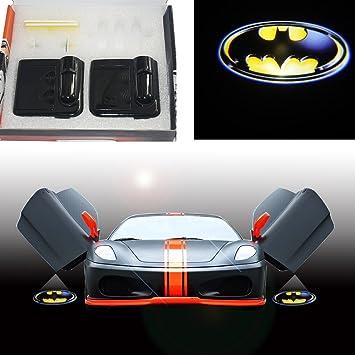 Spoya 3D Batman Escudo Inalámbrico Magnético Puerta de Coche LED ...