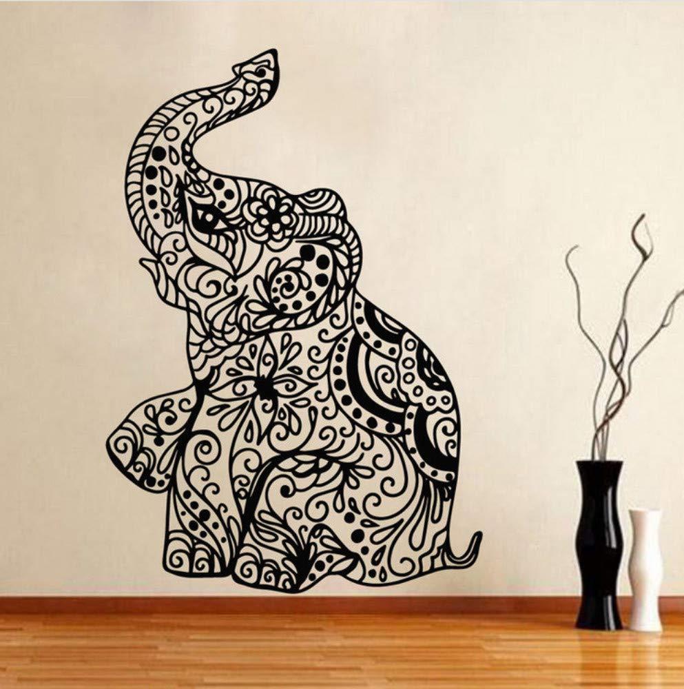 Lkfqjd Etiqueta De La Pared Elefante Indio Yoga Extraíble Ganesha ...