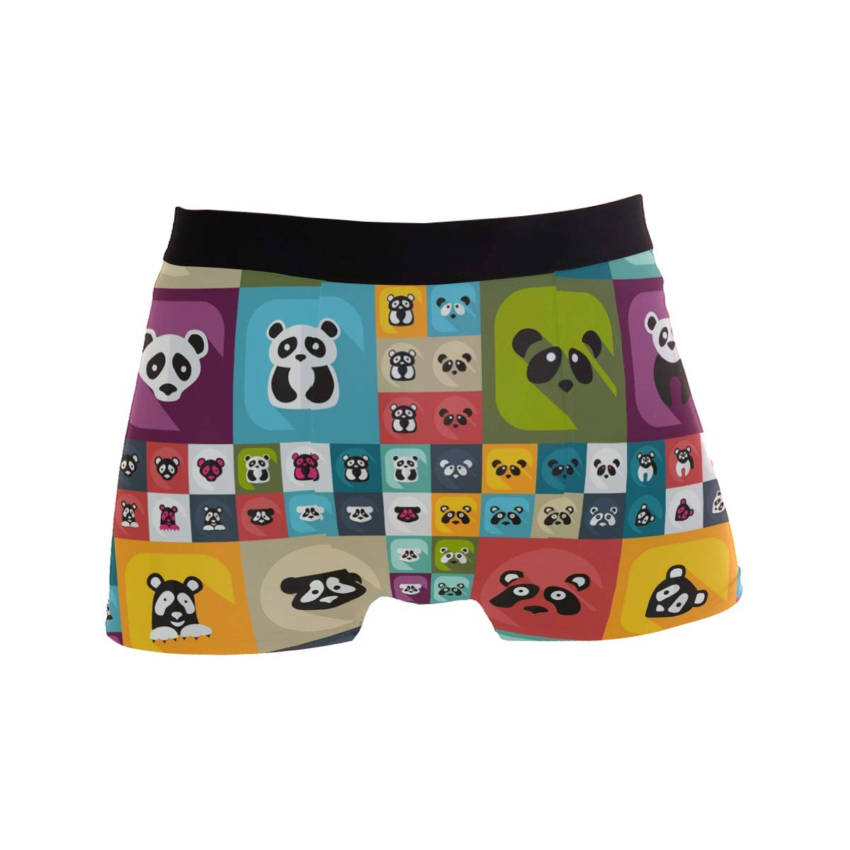 ZZKKO Modern Design Pandas Mens Underwear Boxer Briefs Breathable Multi