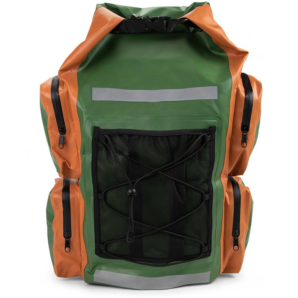 Grizzly Peak ドライテック 防水ドライバックパック IP 66 軽量 ロールトップ ドライバッグ ショルダーストラップ&外側ポケット5つ付き 貴重品&持ち物を守ります。   B07DMB7RF1