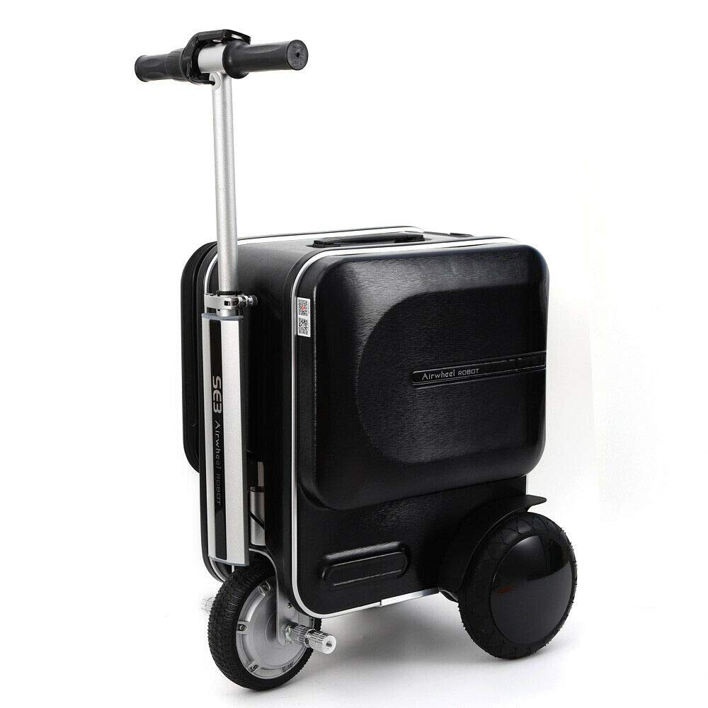Electric Suitcase Scooter Adult Travel Carry Luggage Business Lite Edition 29.3L Airwheel SE3 PC (Black) by YUNRUS