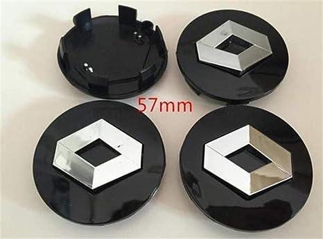 yongyong218 4x57mm Renault Rueda Negra Tapacubos Central Center Caps Emblemas Badge Clio Captur