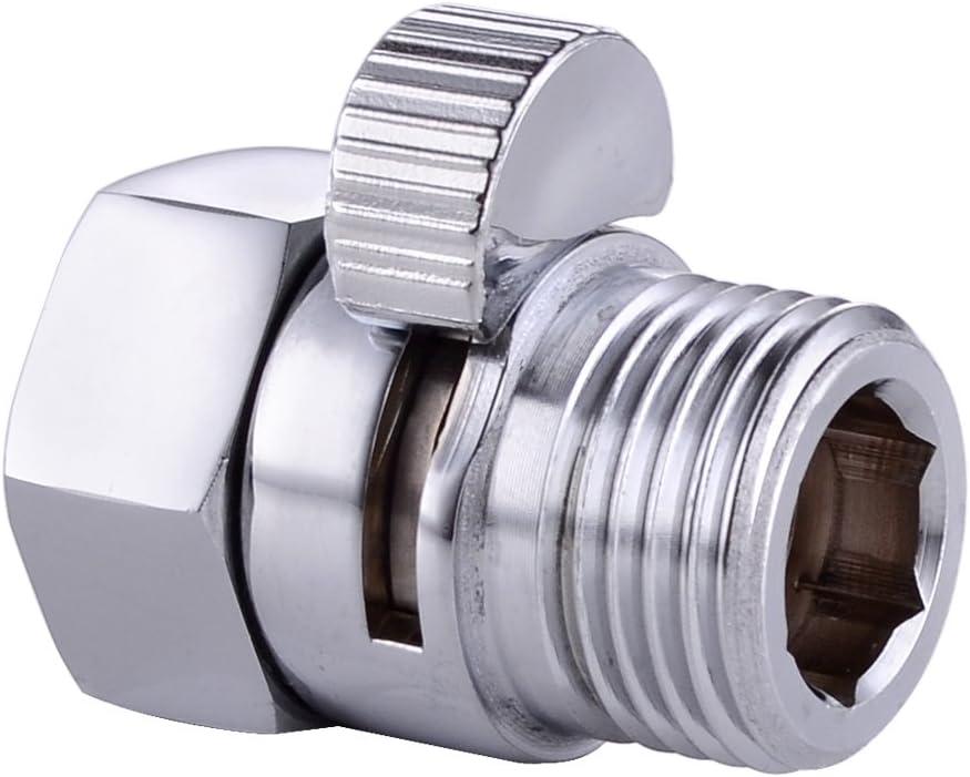"Hot Brass Brushed Nickel G1//2/""Shut Off Valve For Bathroom Toilet Bidet Shower"