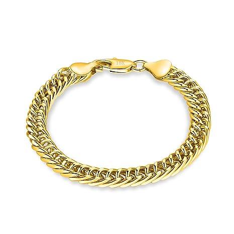 en soldes 385fa f8a76 Daimay Bracelet Plaqué Or Bijoux Homme Poignet en Acier ...