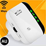 Wireless WiFi Repeater | Up to 300Mbps | Repeater, WiFi Signal Booster, Access Point | Easy Set-Up | Mini 2.4G Portable…