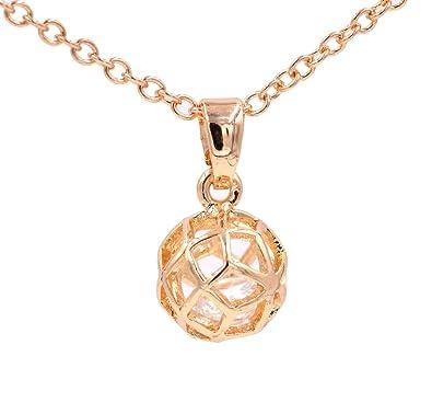 Chapado en oro jaula bola de cristal esfera, diseño de filigrana ...