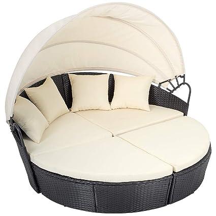 Amazon Com Fdw Outdoor Patio Sofa Furniture Round Retractable