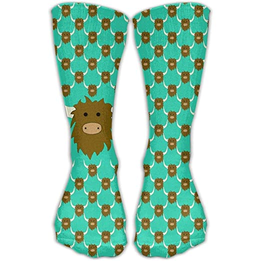 Amazon.com  Yak Repeat Unisex Novelty Crew Socks Ankle Dress Socks ... c0d8027ea623