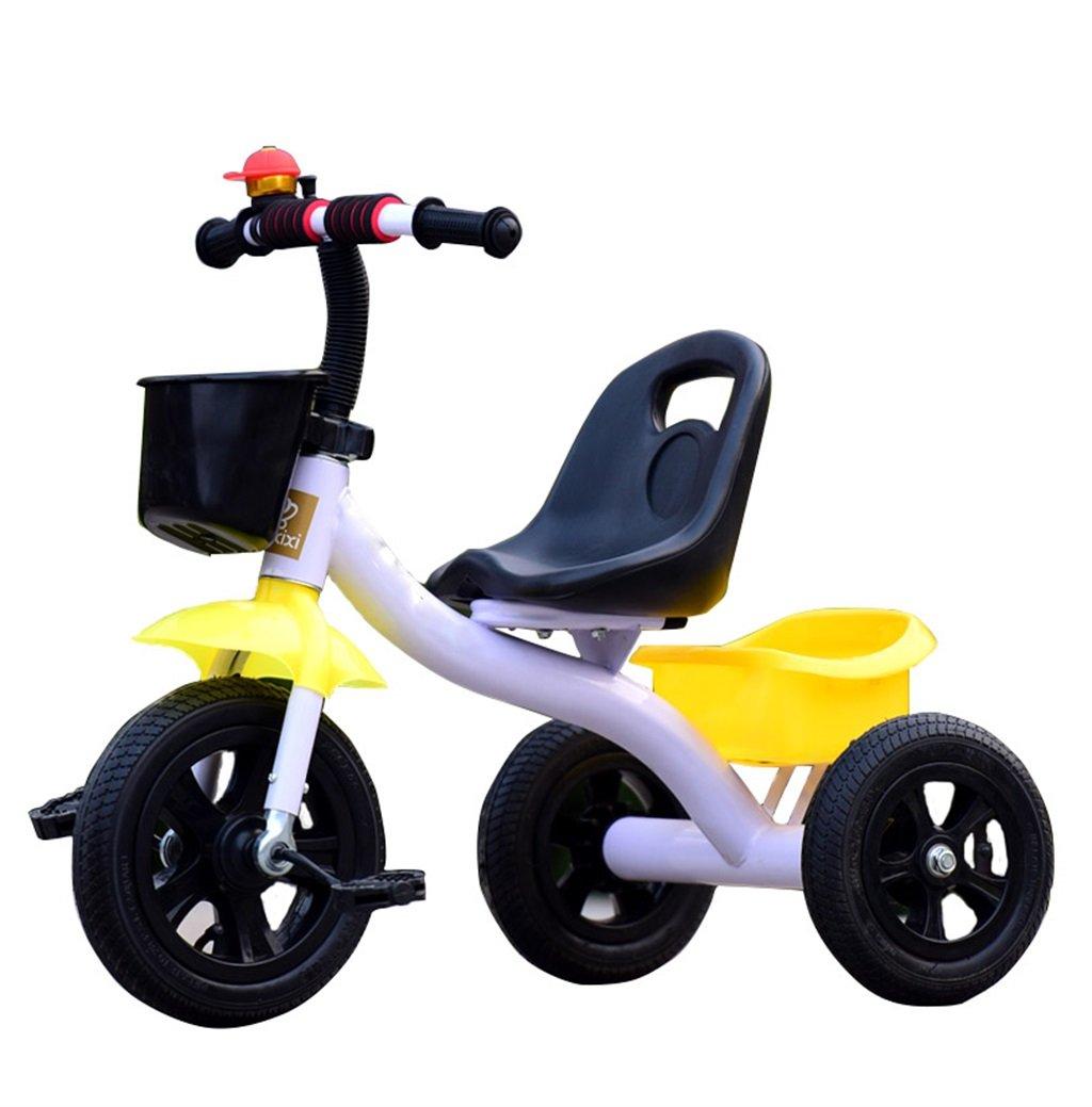 KANGR-子ども用自転車 三輪車の赤ちゃんキャリッジバイク子供のおもちゃの車のインフレータブルホイール/ 1-2-3-4歳(男の子/女の子)、イエローに適した泡ホイール自転車 ( 色 : A type ) B07BTWNN6J A type A type