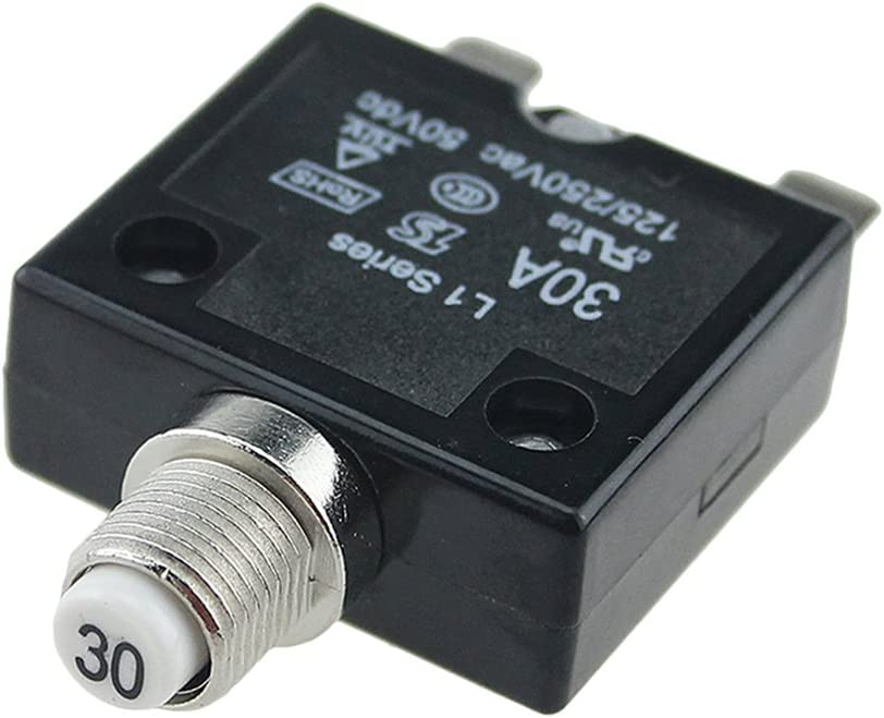 125//250VAC 15A Switch Push Reset Button Circuit Breaker Overload Protector  JF