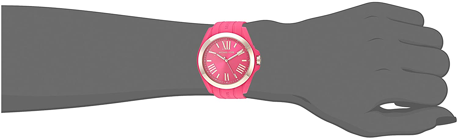 Amazon.com: Michael Kors Womens Bradshaw Quartz Silicone Strap, Pink, 0 Casual Watch (Model: MK2745: Watches