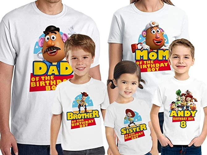 Amazon Toy Story Birthday Shirt Custom Name And Age Personalized Family Handmade