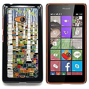 Stuss Case / Funda Carcasa protectora - Pintura abstracta del bosque de abedul - Nokia Lumia 540