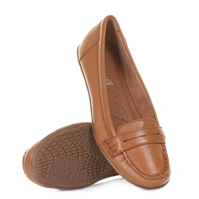 9e1187e4581 Womens Hush Puppies Tan Ceil Penny Loafer Shoes SIZE 5  Amazon.co.uk  Shoes    Bags