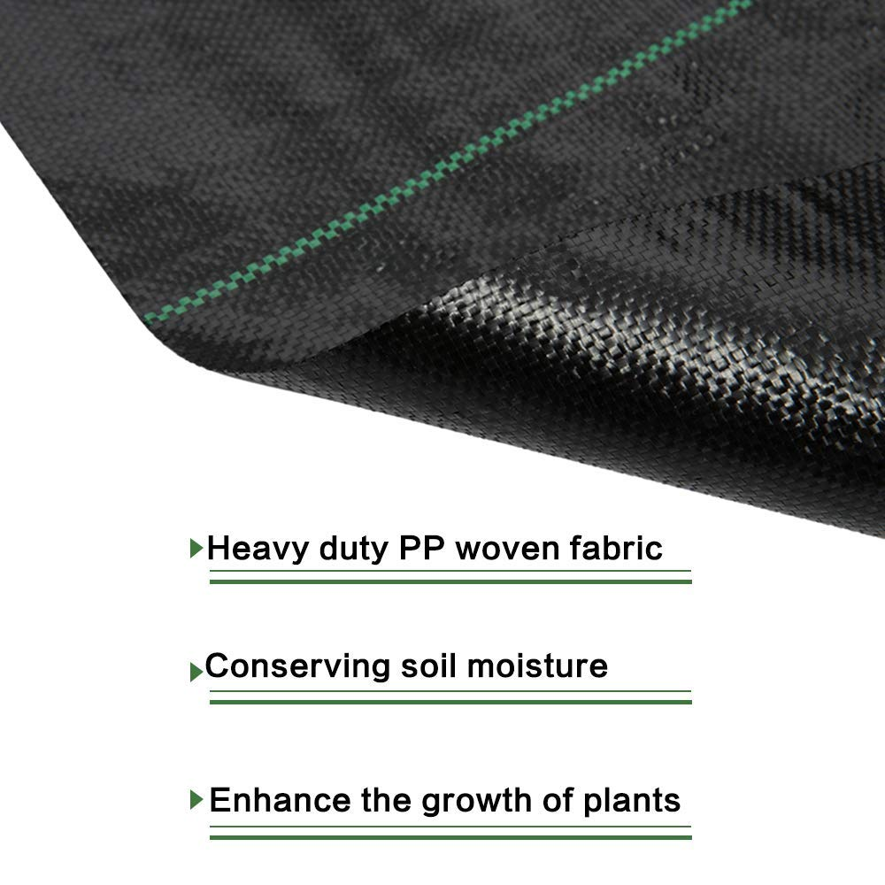 Goasis Lawn Weed Barrier Control Fabric Ground Cover Membrane Garden Landscape Driveway Weed Block Nonwoven Heavy Duty 125gsm Black,3FT x 300FT by Goasis Lawn (Image #2)
