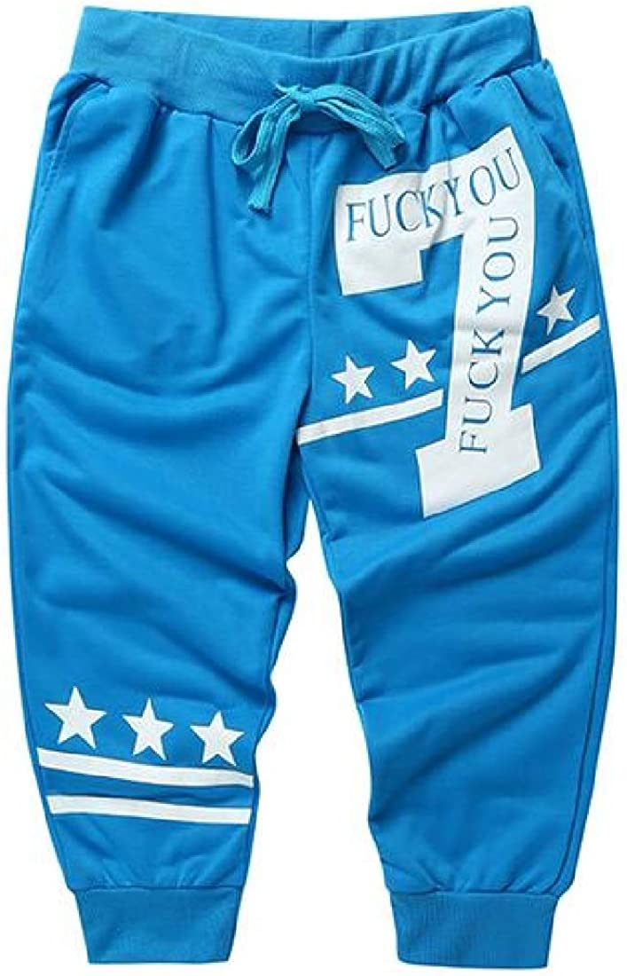 WAWAYA Mens Elastic Waist Casual Active Stripe Print Bodybuilding Star-Printed Cropped Pants Shorts Sweatpants