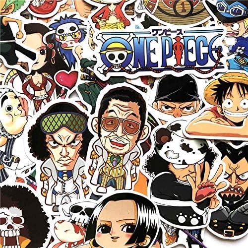 Skisneostype Anime Cartoon One Piece Luffy Cartoon Doodle Refrigerator Wall Car Truck Motorcycle Bumper Bike Sticker Waterproof 125PCS