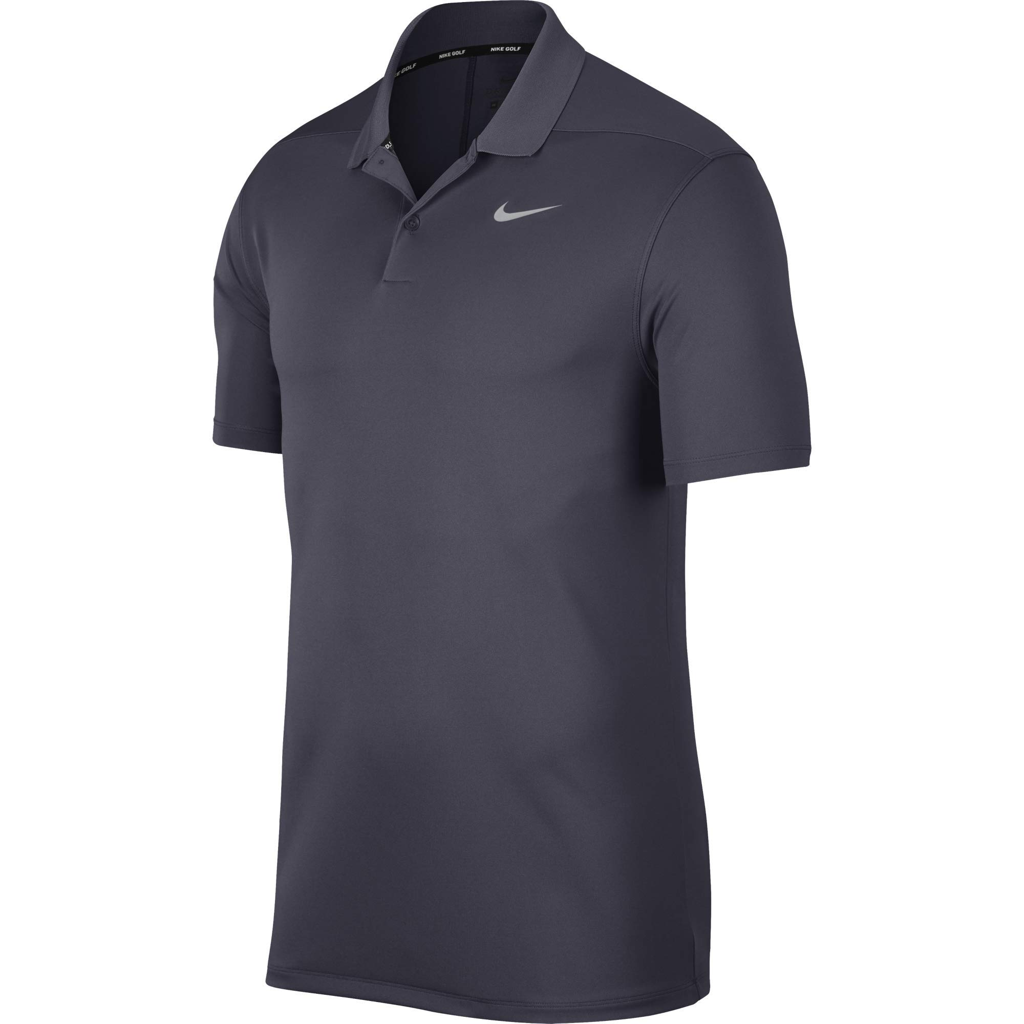 Nike Men's Dry Victory Polo Solid Left Chest, Gridiron/Flight Silver, Small