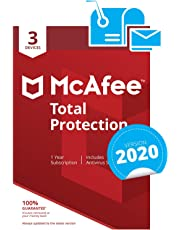 McAfee Total Protection 2020 | 3 Devices | PC/Mac/Android/Smartphones | Activation code by post